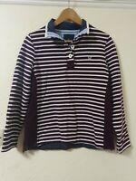 Crew Clothing Striped Sweatshirt Fleece Lined Jumper Top Size 12