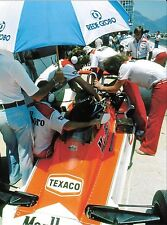 MCLAREN M26 #7 JAMES HUNT COCKPIT PITS BRAZILIAN GP RIO 1978 F1 PHOTOGRAPH 3