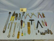 Lot Of 34 Miscellaneous Hand Tools Wrenches Ratchets Sockets Pliers Cutters