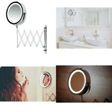 Lighted Makeup Mirror Magnifying Bathroom Cosmetic Wall Mount Swivel Battery Led