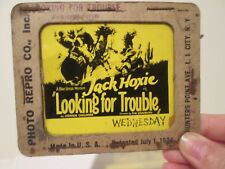 Looking For Trouble   - Original 1926  Movie Glass Slide - Jack Hoxie