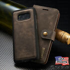 Galaxy S7/S8+ Plus/Note 8 Leather Removable Wallet Magnetic Flip Card Case Cover