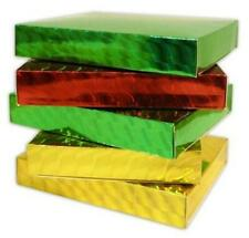 CD & GAME GIFT BOXES HOLOGRAPHIC RED GOLD OR GREEN (FROM UNDER 80p each)