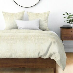 Mudcloth Mud Cloth African Mud Cloth African Sateen Duvet Cover by Roostery