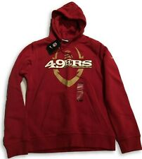 NWT New San Francisco 49ers Nike Football Icon Size Small Hooded Sweatshirt