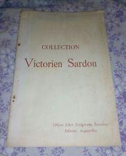 Catalogue de vente d'objets d'art: collection de Victorien Sardou, Hotel Drouot,