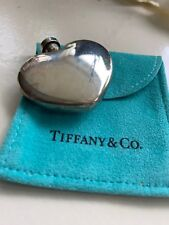 Bottle in 925 marked Sterling Silver Vintage Tiffany & Co Heart Shaped Perfume