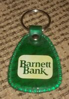 Vintage Barnett Bank Florida KEY CHAIN RING Advertising Collectible Promo Green