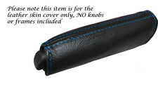 BLUE STITCH HANDBRAKE HANDLE LEATHER SKIN COVER FITS ALFA ROMEO MITO 08-14