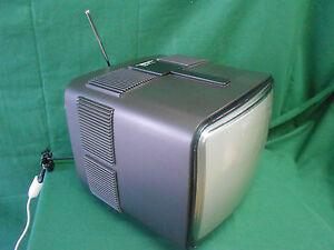 """Raro TV COLOR 16"""" BELLINI Vintage Design BRIONVEGA SPOT 2 Fumè - FUNZIONANTE !"""