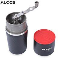 Alocs Camping Travel Coffee Grinding Machine Brewed Coffee Bean Grinder Mug Cup