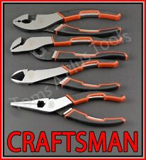 "Craftsman Hand Tools 4pc 6"" Needle Nose 6-3/4"" Slip Joint 6"" Diagonal Plier Set"