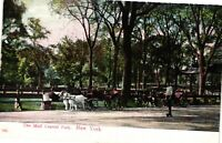 Vintage Postcard - Un-Posted The Mall Central Park New York NY #3166
