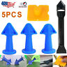 5pcs Silicone Caulking Finisher Tool Nozzle Applicator Spatulas Filler Spreader