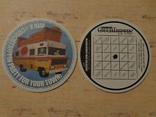 Beer Breweriana COASTER ~ LAGUNITAS Brewery RV with Dog & Couch on Roof ~ CALIF.
