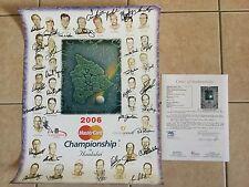 2006 MasterCard Championship 16x20 PGA Golf Poster signed by 35 JSA Tom Watson