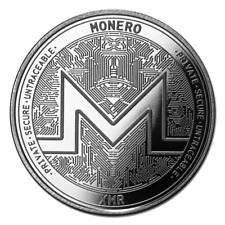 Bitcoin Cryptocurrency Monero - In Code We Trust 1 oz .999 Silver BU USA Round