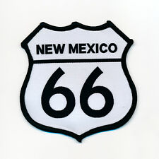 68 x 68 mm Route 66 EE. UU. New México Biker Trucker Patch Patch aufbügler 0791 B