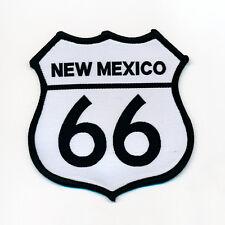 88 x 88 mm Route 66 EE. UU. New México Biker Trucker Patch Patch aufbügler 0791 X