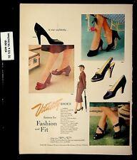 1952 Vitality Fashion Fit Shoes Vintage Print Ad 19276