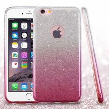 COVER Custodia Glitter GRADIENTE Morbida Silicone per APPLE IPHONE 6 e 6S Rosa