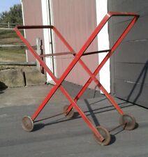 Vintage Red Folding Laundry Cart Meyer Bilt Products