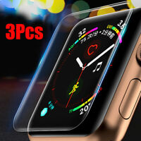 KE_ 3Pcs Smart Watch Screen Protective Film Cover for iWatch 1/2/3/4 Vividly