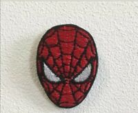 Spiderman face movie cartoon art badge Embroidered Iron or Sew on Patch