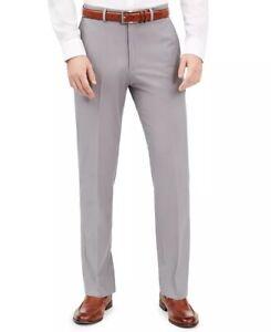 Dockers Men's Slim-Fit Performance Stretch Solid Dress Pants Gray Size 42X29