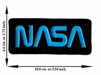 NASA Black And Yellow Sign Space V02 Applique Iron on Patch Sew For T-shirt