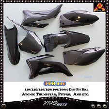 For TTR110 150CC 160CC Pitpro Atomik Thumpstar Fender Plastic Fairing Body Black