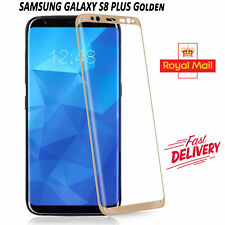 Samsung Galaxy S8 Plus 3D Full Curved Tempered Glass LCD Screen Protection Gold