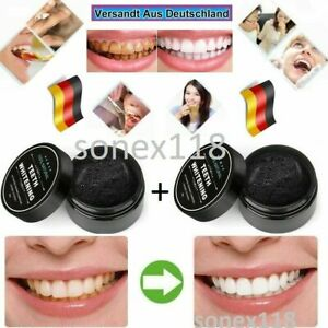 2x 100% Natürlich Aktivkohle Zahnaufhellung Pulver für Zähne