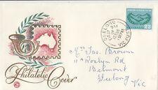 Stamp Australia 2/3 co-operation year Wcs posthorn generic souvenir Fdc, scarce