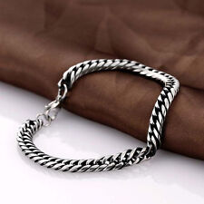 Link Bracelet Wristband Bangle Men Silver Stainless Steel Chain Jewelry Punk New