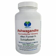 "Ashwagandha ""Ayurvedischer Ginseng"" 120 Pulver-Kapseln a 450mg, #25796"