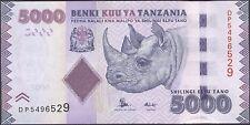 TWN - TANZANIA 43b - 5000 Shilingi 2015 UNC Prefix DP