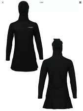 Xs Hooded Islamic Swim Suit Black Al-nafees