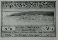 PUBLICITÉ DE PRESSE 1914 LE TOUQUET PARIS PLAGE LE PARADIS DES SPORTS MER FORÊT