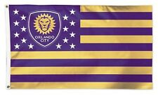 Orlando City SC Lions WC Stripes 3x5 Flag w/Grommets Outdoor Banner MLS Soccer