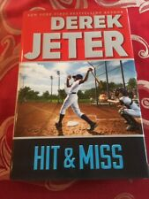 "DEREK JETER SIGNED BASEBALL BOOK ""HIT & MISS"" BRAND NEW AUTOGRAPHED HARDCOVER"