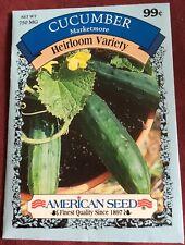 """Vegetable Seeds Gardening Planting """"Cucumbers"""" Marketmore Heirloom - American"""