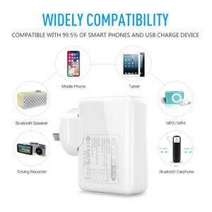 4 Ports Fast Quick Wall Charge Adaptor USB Usb For Samsung S10 IPhone IPAD Power