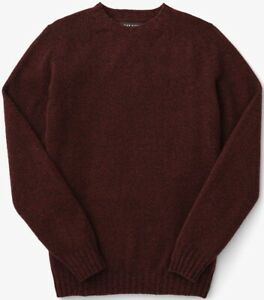 Filson 4GG Crewneck Sweater Red Marled, Men's M NWT MSRP $295