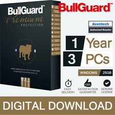 BullGuard Internet Security Premium Protection 1 Year 3 Users 5gb for PC Laptop