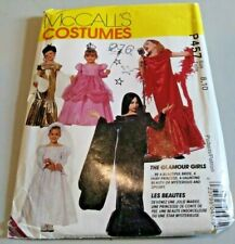 Vintage McCall's Kid Costume Pattern Uncut 1992 Glamour Girls P457 Size 8 10