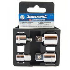 """Convertidor de Socket Conjunto, Reductor Adaptador Kit, unidad de herramienta de trinquete, 1/2"""", 1/4"""", 3/8"""""""
