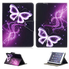 "Purple Butterfly Folio Buckle Universal Case Cover For 9.7"" 10.1"" 10.5"" Tablet"