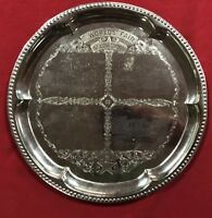 1904 World's Fair Etched Silverplated Souvenir Serving Tray - Various Palaces