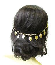 Gold Leaf Headband Hair Vine Headpiece Grecian Boho Festival Chain Bridal 1417